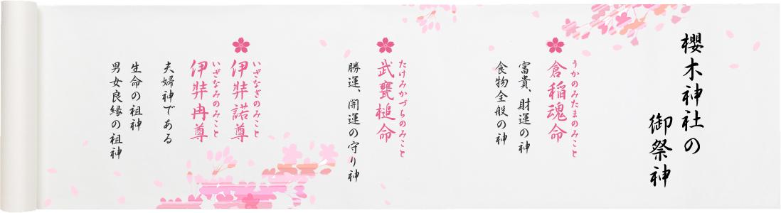 櫻木神社の御祭神